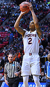 SAN DIEGO, CA - MARCH 16:  Auburn Tigers guard Bryce Brown (2) shoots against the Charleston Cougars during a first round game of the Men's NCAA Basketball Tournament at Viejas Arena in San Diego, California. Auburn won 62-58.  (Photo by Sam Wasson)
