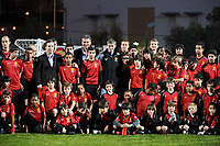 """20090213: CARNAXIDE, PORTUGAL - Manchester United Reserves coach Ole Gunnar Solskjaer visits the Carlos Queiroz (Portuguese national team coach and former assistant coach of Manchester United) Football Academy, named """"Football By Carlos Queiroz"""". The Norwegian former player and UNICEF Ambassador will scout young players training at the academy. In picture: Carlos Queiroz and Ole Gunnar Solskjaer. PHOTO: Alvaro Isidoro/CITYFILES"""