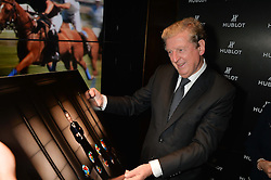On 25th April 2014 in London at the Hublot Boutique in New Bond Street, Ricardo Guadalupe, CEO of Hublot, presented Roy Hodgson, the Manager of the England National football team, with a watch that has been created and named in his honour. The Hublot King Power 66 Hodgson is a Limited Edition of 66 pieces to commemorate the year that England won the World Cup. The idea was hatched from Roy's son Christopher who also collaborated with Hublot on the design of this amazing piece. The presentation was followed by a tour and a dinner at the House of Commons that was attended by Hublot VIP customers.<br /> <br /> PICTURE SHOWS:- Roy Hodgson, the Manager of the England National football team.