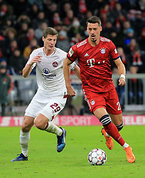 08.12.2018, 1.BL, FCB vs 1.FC Nuernberg, Allianz Arena Muenchen, Fussball, Sport, im Bild:..Patrick Erras ( 1.FC Nuernberg ) vs Sandro Wagner (FCB)..DFL REGULATIONS PROHIBIT ANY USE OF PHOTOGRAPHS AS IMAGE SEQUENCES AND / OR QUASI VIDEO...Copyright: Philippe Ruiz..Tel: 089 745 82 22.Handy: 0177 29 39 408.e-Mail: philippe_ruiz@gmx.de. (Credit Image: © Philippe Ruiz/Xinhua via ZUMA Wire)