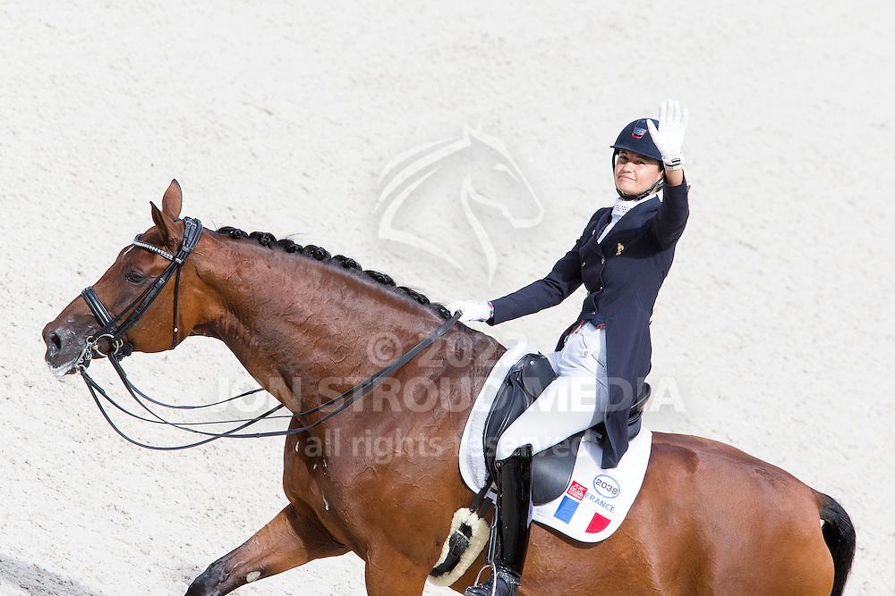 Jessica Michel, (FRA), Riwera de Hus - Grand Prix Team Competition Dressage - Alltech FEI World Equestrian Games&trade; 2014 - Normandy, France.<br /> &copy; Hippo Foto Team - Leanjo de Koster<br /> 25/06/14