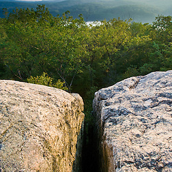 "View from ""Split Rock"" in Hurd State Park in Haddam, Connecticuit."