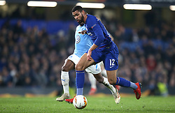 Chelsea's Ruben Loftus-Cheek (right) and Malmo's Fouad Bachirou battle for the ball