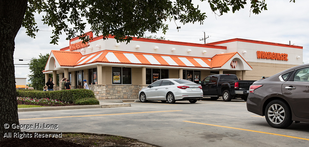 Whataburger fast food restaurant at Siegen Plaza Shopping Center in Baton Rouge, Louisiana for HFF