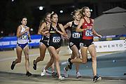 Erika Freyhof (762) of Nebraska, Emily Royston (681) of Milwaukee and Jordyn Kleve (722) of Missouri run in the women's 10,000m during the NCAA West Track & Field Preliminary, Thursday, May23, 2019, in Sacramento, Calif.