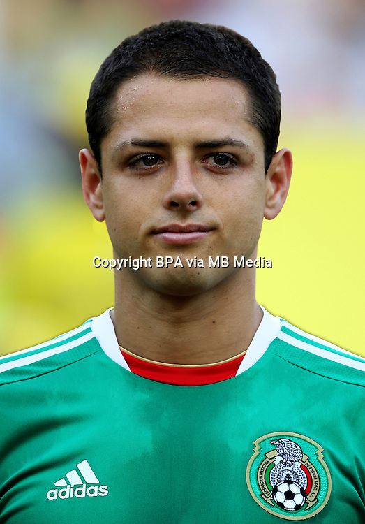 Fifa Brazil 2013 Confederation Cup / Group A Match /<br /> Mexico vs Italy 1-2   ( Jornalista Mario Filho - Maracana Stadium - Rio de Janeiro , Brazil )<br /> Javier HERNANDEZ of Mexico , During the match between Mexico and Italy