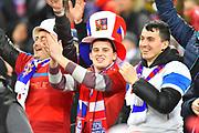 Czech Republic fans during the UEFA European 2020 Qualifier match between England and Czech Republic at Wembley Stadium, London, England on 22 March 2019.