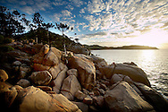 island at sunrise, Magnetic Island, Queensland, Australia.