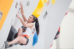 Lucka Rakovec (SLO) at Semifinal of Climbing event - Triglav the Rock Ljubljana 2018, on May 19, 2018 in Congress Square, Ljubljana, Slovenia. Photo by Urban Urbanc / Sportida
