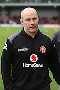 Walsall manager Jon Whitney walking off the pitch during the EFL Sky Bet League 1 match between AFC Wimbledon and Walsall at the Cherry Red Records Stadium, Kingston, England on 25 February 2017. Photo by Matthew Redman.