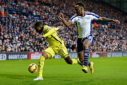 Danny Rose of Tottenham Hotspur is challenged by Saido Berahino of West Brom - Photo mandatory by-line: Rogan Thomson/JMP - 07966 386802 - 31/01/2015 - SPORT - FOOTBALL - West Bromwich, England - The Hawthorns - West Bromwich Albion v Tottenham Hotspur - Barclays Premier League.