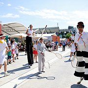 2017 French Open Tennis Tournament - Children's Day.  Street performers performers perform to the crowds on Children's Day at the 2017 French Open Tennis Tournament at Roland Garros on May 27th, 2017 in Paris, France.  (Photo by Tim Clayton/Corbis via Getty Images)