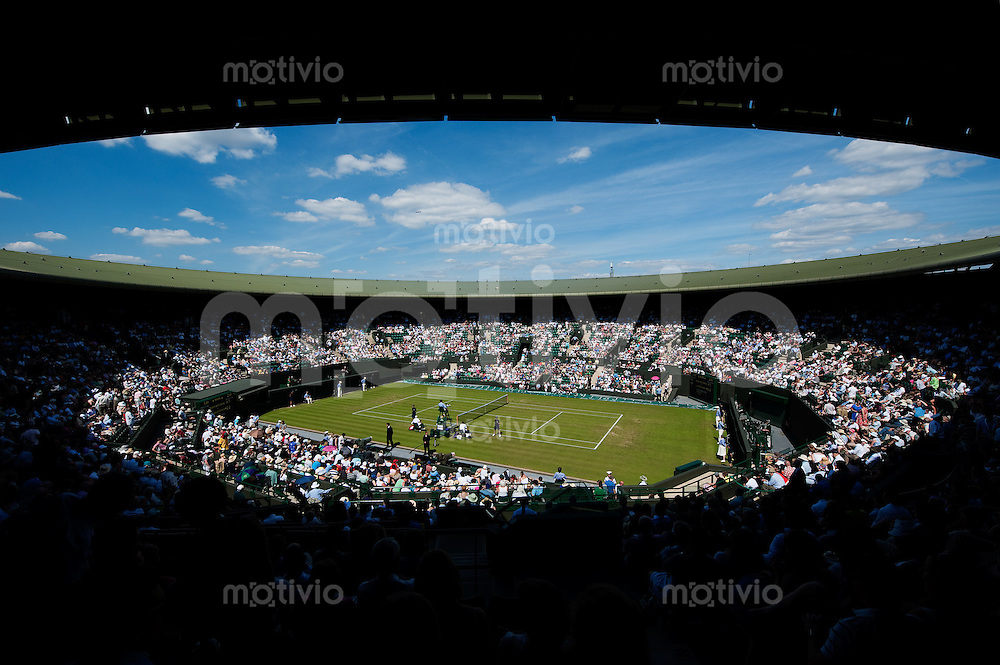 General view of Court 1. The Wimbledon Championships 2010 The All England Lawn Tennis & Croquet Club  Day 2 Tuesday 22/06/2010