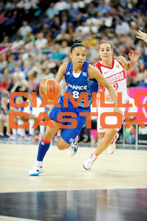 DESCRIZIONE : Basketball Jeux Olympiques Londres Demi finale<br /> GIOCATORE : Lawson Wade Edwige<br /> SQUADRA : France  FEMME<br /> EVENTO : Jeux Olympiques<br /> GARA : France Russie<br /> DATA : 09 08 2012<br /> CATEGORIA : Basketball Jeux Olympiques<br /> SPORT : Basketball<br /> AUTORE : JF Molliere <br /> Galleria : France JEUX OLYMPIQUES 2012 Action<br /> Fotonotizia : Jeux Olympiques Londres demi Finale Greenwich Northwest Arena<br /> Predefinita :