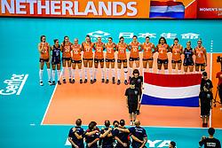 07-10-2018 JPN: World Championship Volleyball Women day 8, Nagoya<br /> Netherlands - Puerto Rico 3-0 / Line up Netherlands