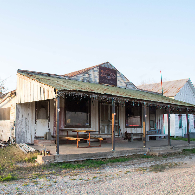 The ACCO Feeds Store is one of the few remaining structures in Muldoon, Texas. None of the buildings were open when I visited and I did not see any people in the entire town.