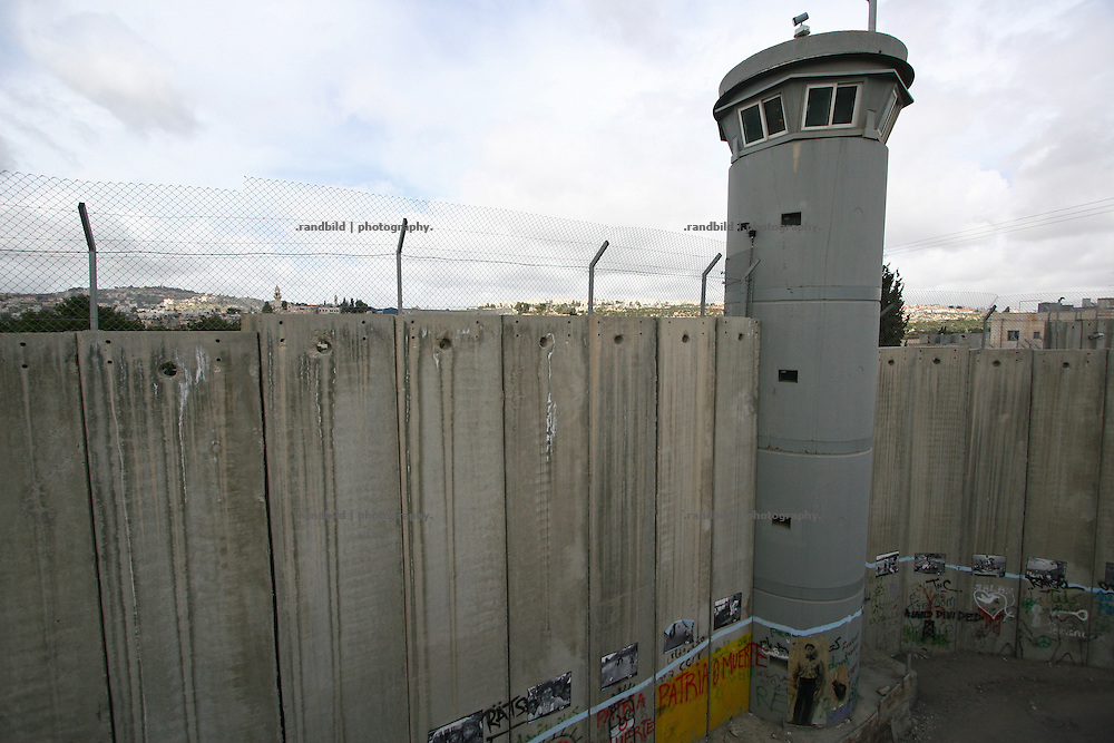 The Section of the israeli seperation wall in Bethlehem, near Rachel´s Tomb.