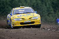 Mobil 1/RAC British Rally Championship 1997. RSAC Scottish Rally. Martin Rowe / Nicky Beech. Renault Dealer Rallying. Renault Maxi Megane. World Copyright: Peter Taylor/PSP. Copy of publication required for printed pictures. Every used picture is fee-liable..