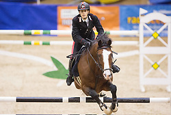 Marco Filippo Bologni of Italy with his horse Fixdesign Chopin  jumps during Equestrian competition  FEI Grand Prix World Cup Celje 2014, on November 30, 2014 in Equestrian Centre Celje, Slovenia. Photo by Vid Ponikvar / Sportida