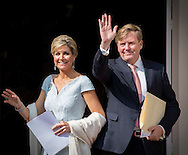 The Hague, 26-05-2016 <br /> <br /> King Willem-Alexander and Queen Maxima arrive at Noordeinde Palec to attend the Apples of Orange Ceremony.<br /> <br /> COPYRIGHT:ROYALPORTRAITS EUROPE/BERNARD RUEBSAMEN