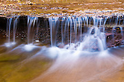 Cascade along the Left Fork of North Creek, Zion National Park, Utah
