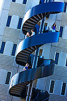 Modern staircase on university campus