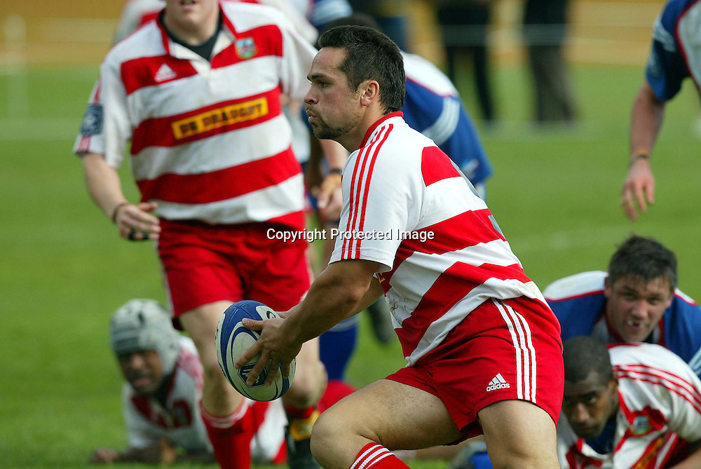 West Coast's Wiremu Gray during Horo-Kapiti's 48-15 win over West Coast in Waikane, Wellington on Saturday afternoon. <br /> NPC Div 3 11 September 2004 <br /> Photo: Marty Melville/Photosport