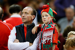 A young Wales supporter - Mandatory byline: Rogan Thomson/JMP - 07966 386802 - 20/09/2015 - RUGBY UNION - Millennium Stadium - Cardiff, Wales - Wales v Uruguay - Rugby World Cup 2015 Pool A.