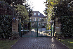 © Licensed to London News Pictures. 07/12/2012. Surrey, U.K..General view of MAX CLIFFORD's house. MAX CLIFFORD returning home from an appointment (this morning 07/12/12) in his rolls royce briefly talks to media from outside his house in surrey. CLIFFORD was released on bail from police custody last night  where he spent the whole day in belgravia police station regarding sexual abuse allegations under operation yewtree ..Photo credit : Rich Bowen/LNP