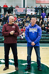 26 January 2019: Recognition of the IBCA Organization of they Year award during the McLean County Tournament at Shirk Center in Bloomington Illinois<br /> <br /> Gary Tipsord, Troy Hall