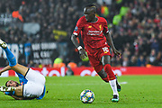 Liverpool forward Sadio Mane (10) in action during the Champions League match between Liverpool and Napoli at Anfield, Liverpool, England on 27 November 2019.