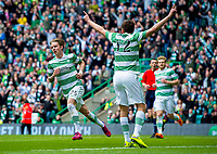 24/05/15 SCOTTISH PREMIERSHIP<br /> CELTIC v INVERNESS CT<br /> CELTIC PARK - GLASGOW<br /> Celtic's Stefan Johansen (left) celebrates his goal