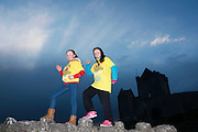 Pieta House, Centre for the Prevention of Self-harm or Suicide will be holding its eighth Darkness into Light charity 5k walk/run this year and for the second time KINVARA is hosting the event.&nbsp; We will be hosting Darkness Into Light on 7th May 2016 while it is still dark at 4.15  and finishing as dawn is breaking at 5.30am approximately.<br /> <br /> The 5 kilometre circuit will commence at the Astro pitch at Kinvara National School. Runners and walkers veer left coming out of Kinvara National School and proceed down the main street. From there the runners and walkers will continue along the N67 in the direction of Dunguaire Castle. Runners and walkers will then turn onto R367(Ardrahan Road) on their right and from there proceed approx. 1 KM and turn left onto Green Road.They will then proceed to rejoin theN67 at the Green Road junction on the northeast of Dunguaire Castle. The participants will proceed back towards Kinvara village along the N67 until returning to the original starting point at the Astro pitch at Kinvara National School.<br /> At the Launch were Nicole Heanen and Bronagh O'Driscoll.  Photo:Andrew Downes, xposure.