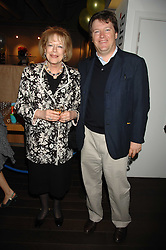 LADY ANTONIA FRASER and her son DAMIAN FRASER at a pre show reception to celebrate the 50th anniversary of the play 'The Birthday Party' held at the Lyric Theatre, Kings Street, Hammersmith, London on 19th May 2008.<br /><br />NON EXCLUSIVE - WORLD RIGHTS