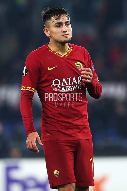 Cengiz Under of Roma reacts during the UEFA Europa League, Group J football match between AS Roma and Wolfsberg AC on December 12, 2019 at Stadio Olimpico in Rome, Italy - Photo Federico Proietti / ProSportsImages / DPPI