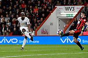 Lewis Cook (16) of AFC Bournemouth blocks a shot at goal  by Paul Pogba (6) of Manchester United during the Premier League match between Bournemouth and Manchester United at the Vitality Stadium, Bournemouth, England on 18 April 2018. Picture by Graham Hunt.