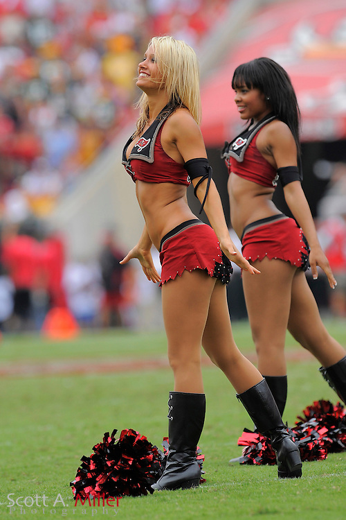 Tampa, Florida, Sept. 28, 2008: Tampa Bay Buccaneers cheerleaders during the Bucs game against the Green Bay Packers at Raymond James Stadium....©2008 Scott A. Miller