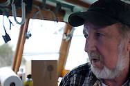April 27, 2011 - Dave Casoni aboard his boat the Margaret M in Sandwich, MA.