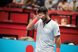 27.10.2018, Wiener Stadthalle, Wien, AUT, ATP Tour, Erste Bank Open, Halbfinale, im Bild Fernando Verdasco (ESP) // Fernando Verdasco of Spain during the semi finals of Erste Bank Open of ATP Tour at the Wiener Stadthalle in Wien, Austria on 2018/10/27. EXPA Pictures © 2018, PhotoCredit: EXPA/ Michael Gruber