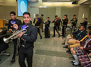 Members of the Davis High School Mariachi Pantera perform during the Houston ISD Board of Trustees meeting, April 9, 2015.