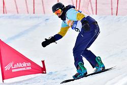 SCHMIEDT Christian, SB-LL1, GER, Banked Slalom at the WPSB_2019 Para Snowboard World Cup, La Molina, Spain