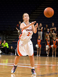 Virginia guard Tara McKnight (21) passes against Morehead State.  The Virginia Cavaliers women's basketball team defeated the Morehead State Eagles 88-43 at the John Paul Jones Arena in Charlottesville, VA on February 4, 2008.