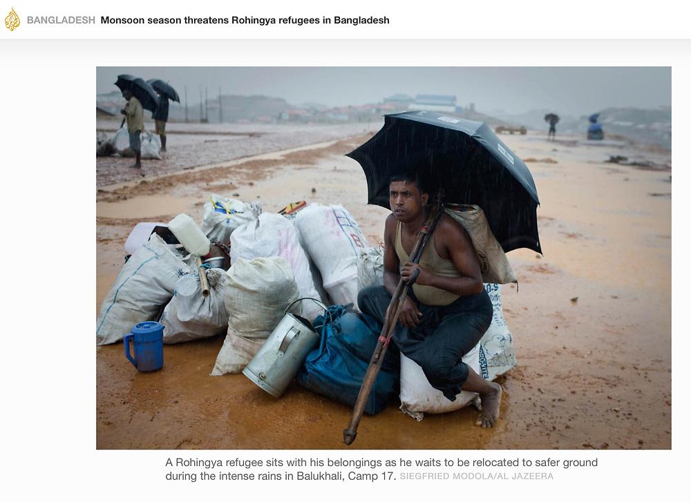 For Al Jazeera - Monsoon season threatens Rohingya refugees in Bangladesh