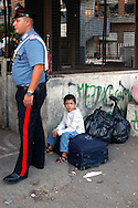 Roma 24 August 2007. Vacated of the police The Residence Rome  inhabited to Romanian Roma and other community of immigrats