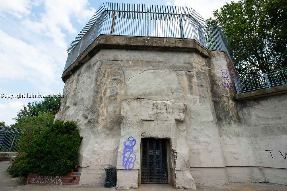 Former Second World War Flak tower at Gesundbrunnen Park in Berlin, Germany