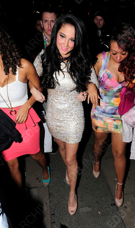 06.MAY.2012 LONDON<br /> <br /> TULISA CONTOSTAVLOS AND FRIENDS ARRIVING AT THE ROSE CLUB IN MAYFAIR TO CELEBRATE GOING NUMBER 1 IN THE CHARTS WITH HER NEW SINGLE.<br /> <br /> BYLINE: EDBIMAGEARCHIVE.COM<br /> <br /> *THIS IMAGE IS STRICTLY FOR UK NEWSPAPERS AND MAGAZINES ONLY*<br /> *FOR WORLD WIDE SALES AND WEB USE PLEASE CONTACT EDBIMAGEARCHIVE - 0208 954 5968*