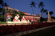 Christmas display, Honolulu Hale, Honolulu, Hawaii<br />