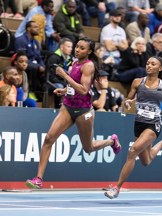 USATF Indoor Track & Field Championships: womens 300, Briana Nelson, Nike