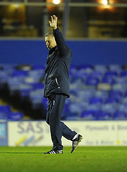 Bristol Rovers Manager, John Ward thanks the travelling support - Photo mandatory by-line: Joe Meredith/JMP - Tel: Mobile: 07966 386802 14/01/2014 - SPORT - FOOTBALL - St Andrew's Stadium - Birmingham - Birmingham City v Bristol Rovers - FA Cup - Third Round