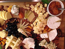 Cheese Plate, SV Maple Leaf, Gulf Islands, British Columbia, Canada